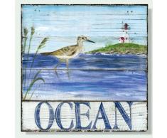 Baygifts Wandbild, maritim, Holz - blau