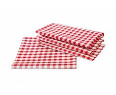 Landhaus Tischdecken in Karo Farbe und Größe wählbar 100% Baumwolle (rot-weiß kariert, 100x140 cm eckig)