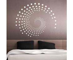Grandora Wandtattoo Ornament Kreise Punkte I schwarz (BxH) 100 x 84 cm I Wohnzimmer Schlafzimmer Flur Wandaufkleber Wandsticker Aufkleber Sticker W941