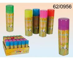 Luftschlangenspray 160ml, Party 6-farbig sortiert, Liefermenge 1Stück