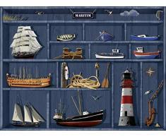 Poster Kunstdruck oder Leinwand-Bild Artland Wandbild fertig aufgespannt auf Keilrahmen Mausopardia Der maritime Setzkasten in verschiedenen Größen und Farben erhältlich