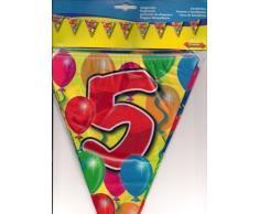 Girlande Zahl 5 Geburtstag Jubiläum Wimpelkette