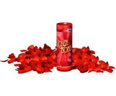 Rosenbombe Tischfeuerwerk, gefüllt mit ca. 100 roten Rosenblätter