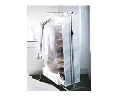 SKUBB Hängeaufbewahrung/Schwarz 100% Polyester, zum Aufhängen, Regal mit 9 Fächern, 22 x 34 x 120 cm)