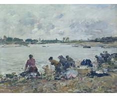 Das Museum Outlet – Wäsche auf der Bank der tauques – Leinwand Print Online kaufen (101,6 x 127 cm)