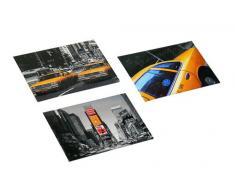 Trendfinding Wäschetonne mit Reißverschluss New York Yellow Cab Wäschesammler Wäsche Tasche Sammler Sortierer Tonne schwarz New York Yellow Cab