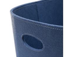 Schindler + Hofmann SH100642 Holzkorb, Filzkorb Blau, groß