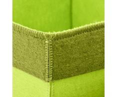 Korb Deko 3er Set Filly Filz 28x34x34cm Dekoschale (grün)