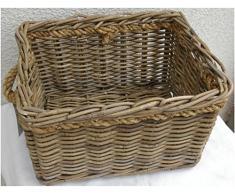 Weidenkorb Sydney grey Gr. M Picknickkorb Einkaufskorb Fahrradkörbe