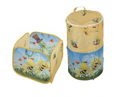 roba Boxenset Biene Maja, 2er Set Pop Up Aufbewahrungsboxen fürs Kinderzimmer