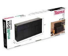 TOOMAX Auflagenbox Kissenbox mit Kissen, Anthrazit, Wasserdicht, Schwarz, 320 L, 119 x 46 x 60 cm