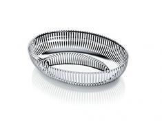 Alessi PCH06/26 Korbschale oval aus Edelstahl 18/10 glänzend poliert