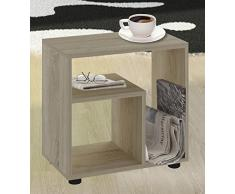 VCM Beistelltisch Tisch Nachttisch Kaffeetisch Nachtkonsole Couchtisch Wohnzimmertisch Sonoma-Eiche 55x50x30 cm Zeito