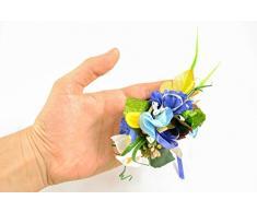Deko Boutonniere aus Blumenwerk fur Ostern Korb