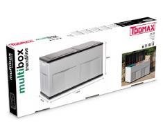 TOOMAX Auflagenbox Kissenbox Gartenbox, Weiß/ Schwarz, 73 x 50.5 x 49.5 cm - Trend Line