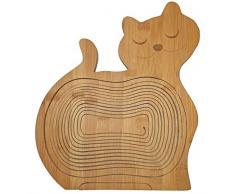 Faltkorb Hund, wunderschöner Klappkorb Bamboo 30 x 30 cm aus Bambusholz Faltkorb Holzkorb Korb Schale aus Bambus Obstkorb Dekoschale Obstschale Holz faltbar Gemüseschale Obstteller, ideal auch als Untersetzer für Töpfe, Pfannen