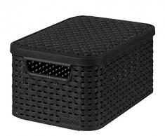 Curver 03617-308-00 Aufbewahrungsbox Style mit Deckel S, 7 L, anthrazit