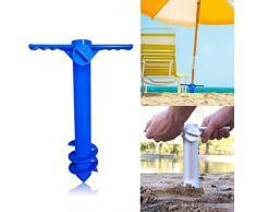 OZYN Schirmständer Outdoor-Strandschirm Wind- und Durable Halter Parasol Pole Basisschraube Halter Portable-Angeln
