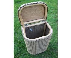 Sitzwäschetruhe, Wäschetonne aus Loom, Antik gewaschen