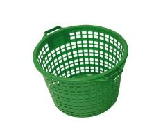 Xclou 343182 Gartenkorb rund 50 kg, Kunststoff, grün