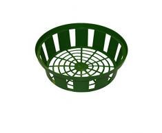 Xclou Blumenzwiebel-Pflanzschale in Grün, Zwiebel-Pflanzkorb aus Kunststoff mit 21 cm Durchmesser im 3er Set, Pflanzschalen für Blumenzwiebeln, 3 Pflanzkörbe für Zwiebeln für den Garten