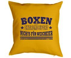 Cooles Kissen Boxen - Geschenk Sportler : Boxen Extreme Sport .. - Kissen mit Füllung / gelb
