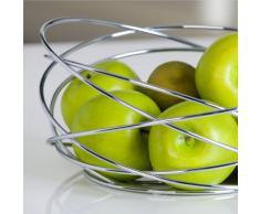DESIGN OBSTKORB NET früchtekorb netz obst schale korb silber