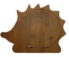 Faltkorb Igel Klappkorb 30 x 30 cm aus Bambusholz Bamboo Faltkorb Holzkorb Korb Schale aus Bambus Obstkorb Dekoschale Obstschale Holz faltbar Gemüseschale Obstteller, ideal auch als Untersetzer für Töpfe, Pfannen etc. durch