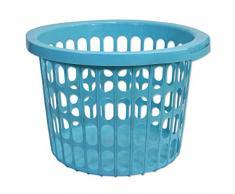 Wäschekorb Wäschesammler Wäschetruhe Wäschetonne Sammelbehälter Aufbewahrung (Wäschekorb 22L rund blau - 22302)