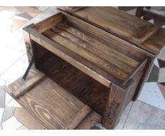 Massive handgemachte Holzkiste Truhe Box Holz Aufbewahrung Antik Dekoration MT2