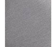 Wenko 22836100 Hocker Candy Light Grey Leinenoptik - Wohnhocker, Badhocker, Wäschesammler mit abnehmbarem Wäschesack, ABS, 36 x 50.5 x 36 cm