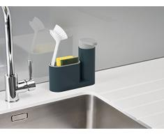 Joseph Joseph 85090 Sinkbase Ordnungshelfer-Set Für Das Spülbecken, 2-Teilig, Plastik, 17,8 x 6,01 x 16,5 cm, grau