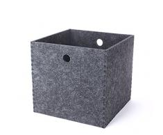 Aufbewahrungsbox Robust Filz Box für Arbeitszimmer Büro Korb Filztasche aus Polyester 31*31*29cm