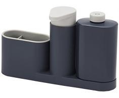 Joseph Joseph SinkBase - 3-teiliges Ordnungshelfer-Set für das Spülbecken - grau