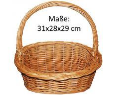 Präsentkorb, Weidenkorb, Geschenkkorb, Körbchen, Natur - Größe S (31x28x29)