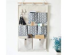 Hava Kolari Hängeaufbewahrung Organizer Taschen Wand Ordnungssysteme Hängender Aufbewahrungstasche für Kinderzimmer Schlafzimmer Tür Baum (D)