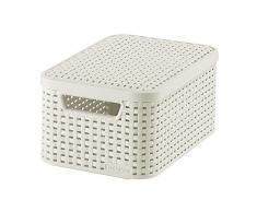 Curver 03617-885-00 Aufbewahrungsbox Style mit Deckel S, 7 L, creme