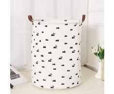 Znvmi Faltbarer Wäschebox Baumwolle Stoff Wäschesack Wäschekorb Wäschetonne für Waschküche, Badezimmer oder kinderzimmer - Hügel
