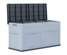 Festnight- wasserdichte Garten Aufbewahrungsbox 320 L | Gartenbox Auflagenbox für Garten Terrasse | aus Kunststoff 119 x 46 x 60 cm
