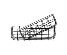 House Doctor Korb Set Aufbewahrungskörbe Dekokörbe 2er Set schwarz Basket, Simply, black S: 16x24x8cm, L: 20x28x8 cm