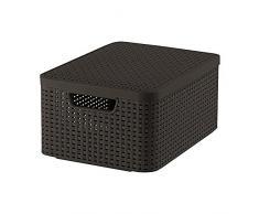 Curver 03618-210-00 Aufbewahrungsbox Style mit Deckel M, 18 L, dunkelbraun