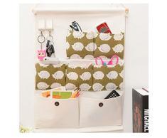 Higawin Wand hängenden Hanging Storage Bag Hängeorganizer/Hängende Tasche/Debris Beutel/ Wand Utensilo,Multifunktionale Hängenden Tasche-Igel