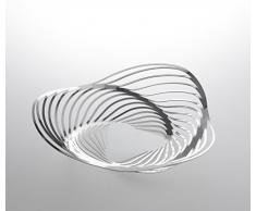 Alessi ACO02 Trinity Korbschale aus Edelstahl 18/10 glänzend Poliert, Durchmesser 26,0 cm