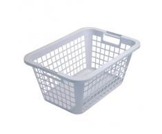 Axentia Wäschekorb, robuster Wäschesammler mit Tragegriffen, leicht zu reinigen, für Haushalt und Garten, Aufbewahrungskorb farblich sortiert, Maße: 53 x 40 x 23 cm, 25 l Volumen