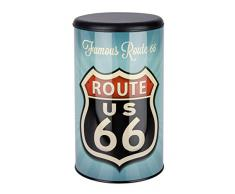 Wenko 21591100 Wäschetruhe Vintage Route 66 - Badhocker, Fassungsvermögen 54 L, Stahl, 35,5 x 60 x 35,5 cm, mehrfarbig