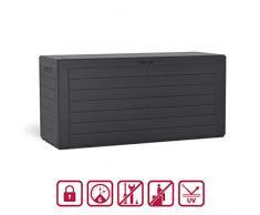 Kompakte Kissenbox/Aufbewahrungsbox in mit 280 Liter Nutzvolumen. Robust, abwaschbar und einfach im Aufbau! (Anthrazit)