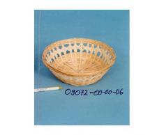 Schale rund Ø 23 cm Bambus lichtgeflochten