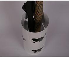 Schirmständer, Katze, 47 x Ø 22,5 cm, weiß, Marke: Szagato, Made in Germany (Regenschirmständer, Schirmhalter, Regenschirmhalter)