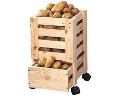 Kesper 67570 Kartoffel- und Obstkiste aus Kiefer, 25 x 44 x 31 cm