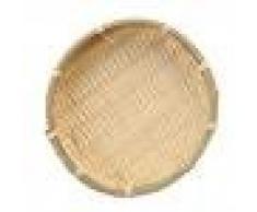 Sharplace Korb Schale Sieb, Gastrotauglich, Rund, Durchmesser: 16/13 cm, Bambus, Natur - Holzfarbe, 13 × 2 cm
